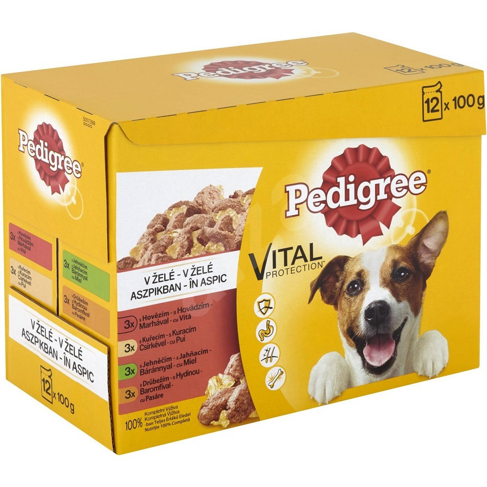 Pedigree v želé mix multipack 12x100g