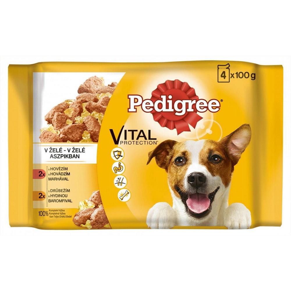 Pedigree hovězí + kuřecí 4x100g