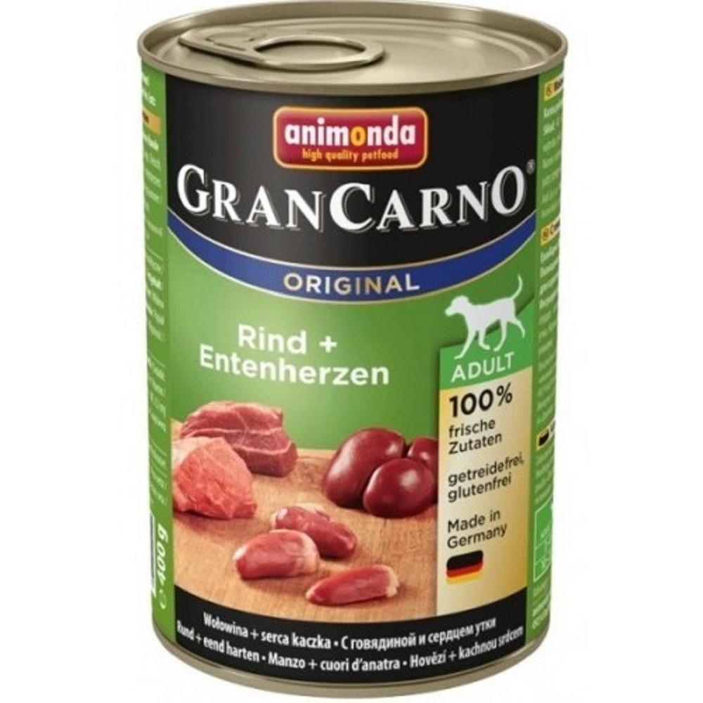 Animonda Gran carno Adult - hovězí, kachní srdce 400g