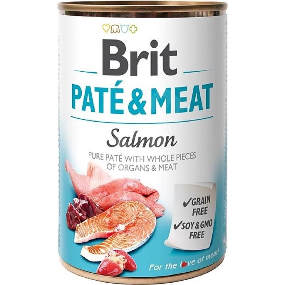 Brit Paté Meat losos 800g