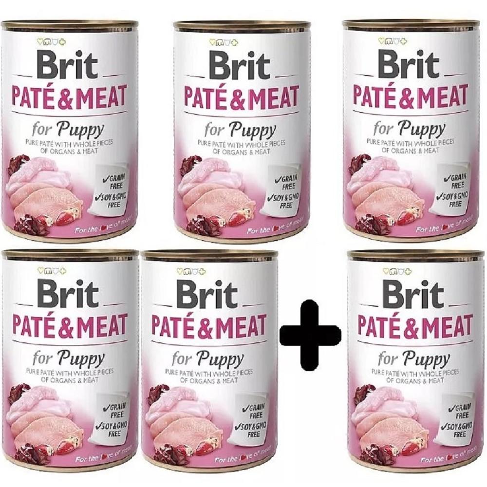 Brit Paté Meat Puppy 400g - 5+1 zdarma