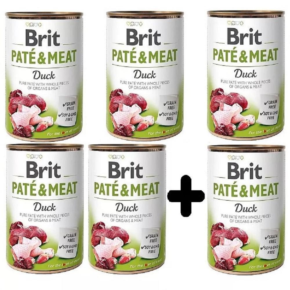 Brit Paté Meat Kachna 400g - 5+1 zdarma