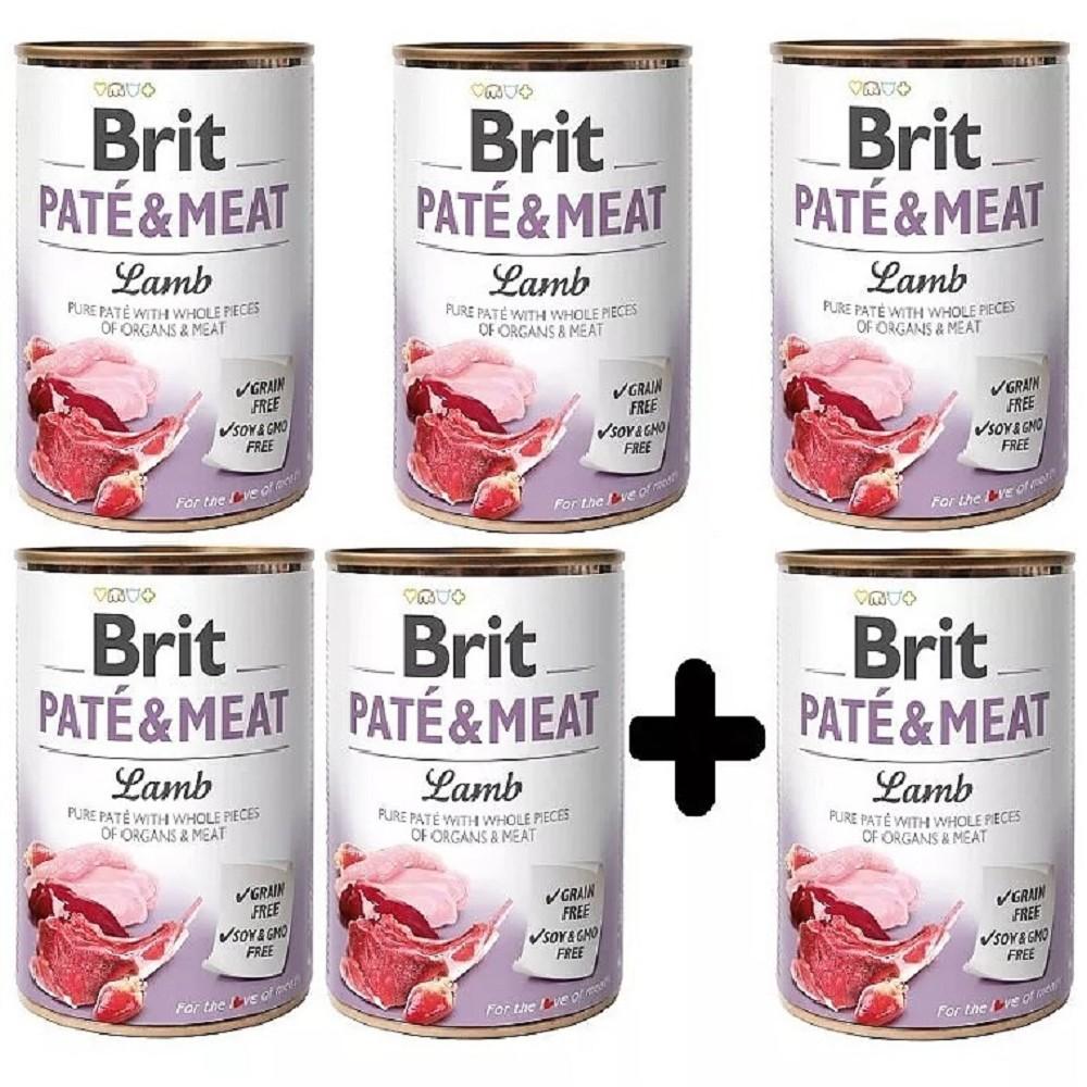 Brit Paté Meat jehněčí 400g - 5+1 zdarma
