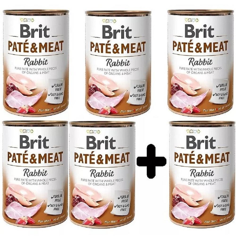 Brit Paté Meat Králík 400g - 5+1 zdarma