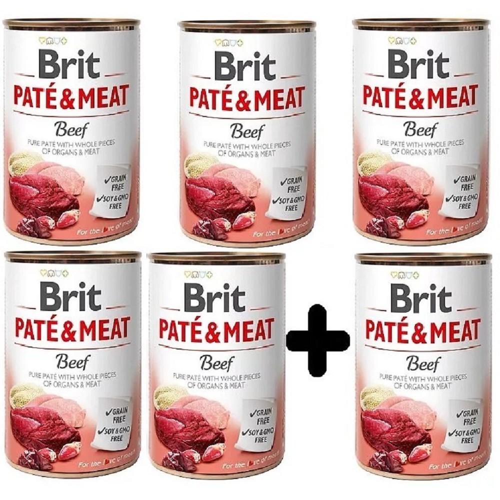 Brit Paté Meat Hovězí 400g - 5+1 zdarma