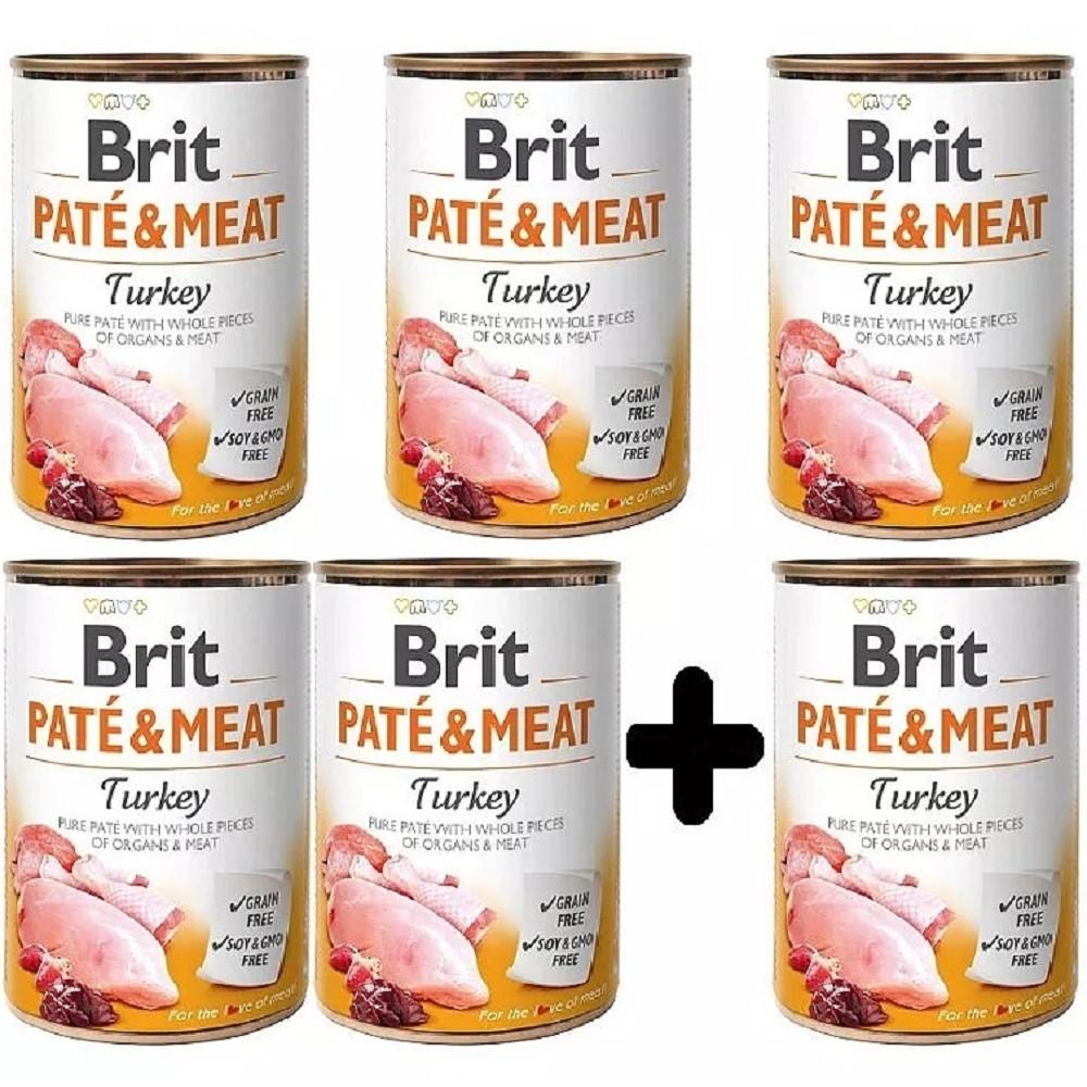 Brit Paté Meat Krůta 400g - 5+1 zdarma