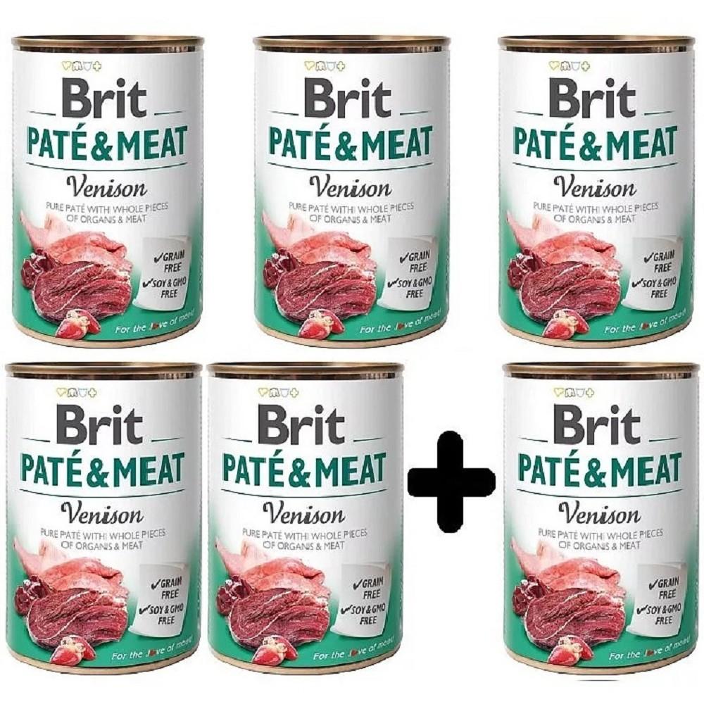 Brit Paté Meat Zvěřina 400g - 5+1 zdarma