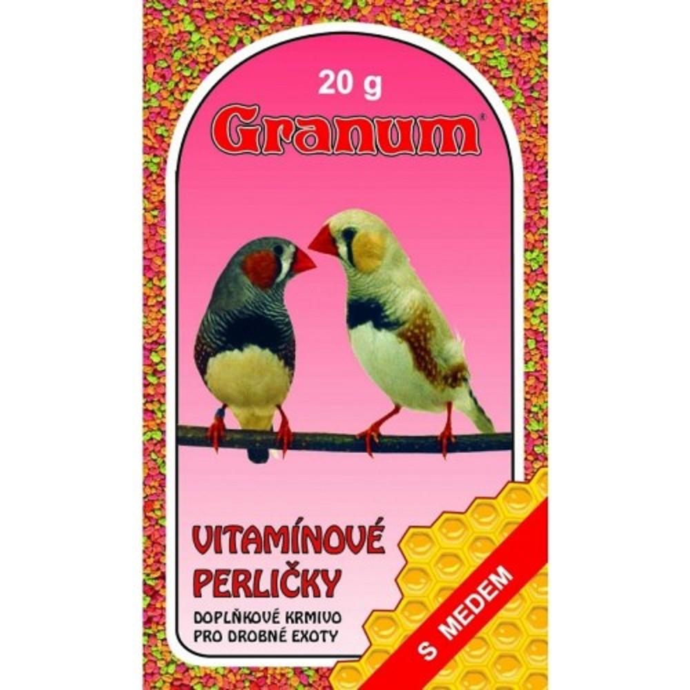 Vitaminizované perle pro exotické ptactvo 20g
