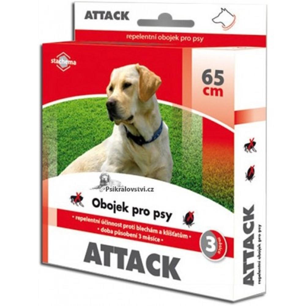 Attack obojek antiparazitní - hnědý 65cm