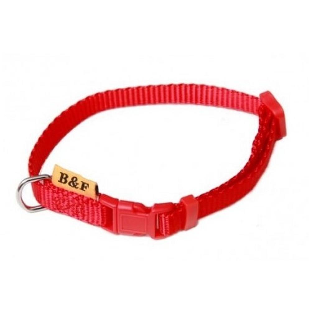 Obojek jednobarevný - červený 2x38-60cm