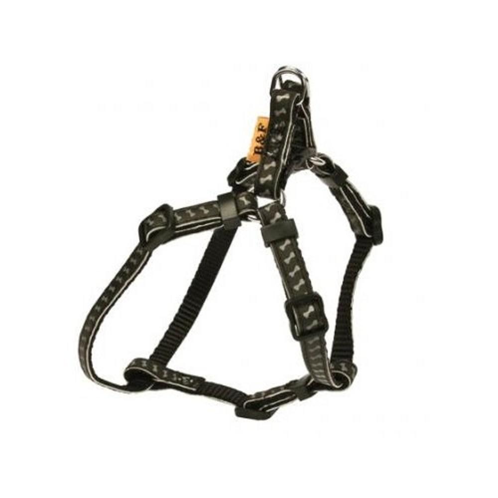 Postroj reflexní s kostičkami - černý vel.1