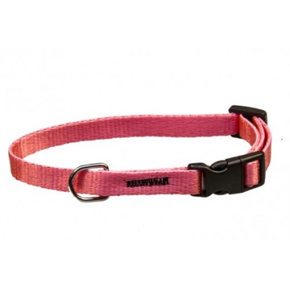 Obojek popruh neon - růžový 1x18-28cm