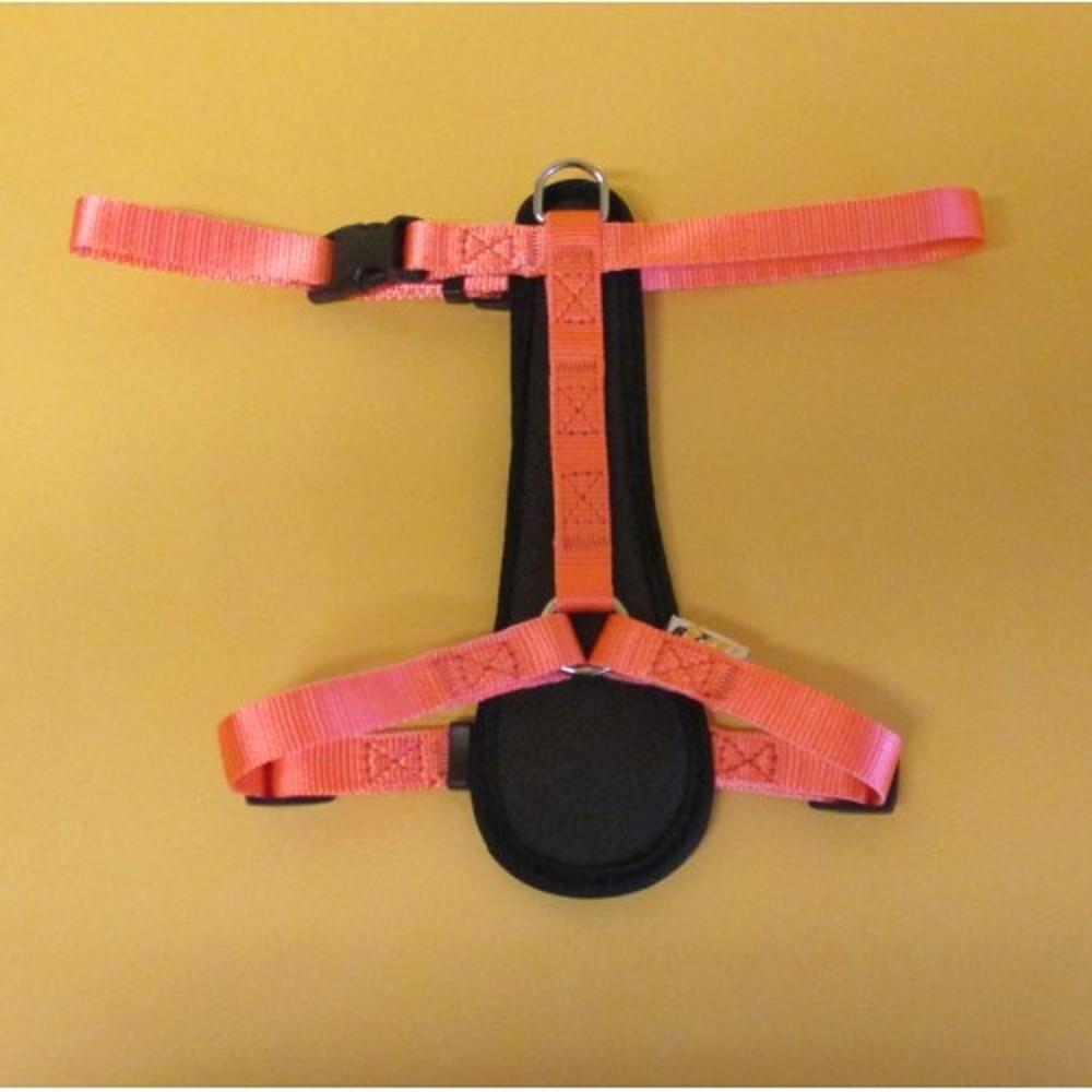 Postroj popruh - neon růžový vel.2