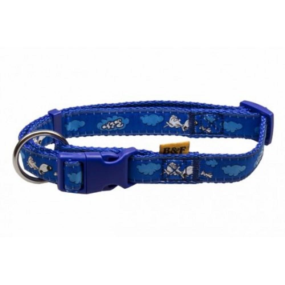 Obojek s potiskem - modrý 2x38-60cm