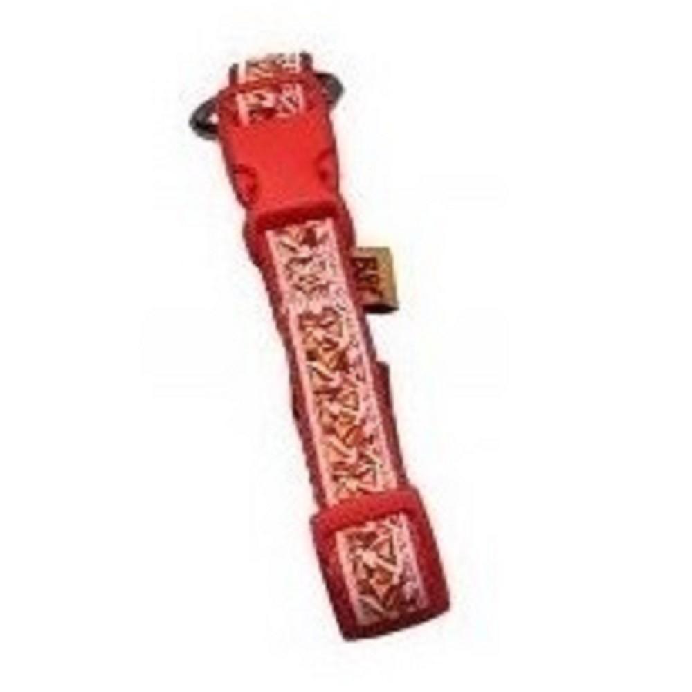 Obojek popruhový - červený 1,5x30-50cm