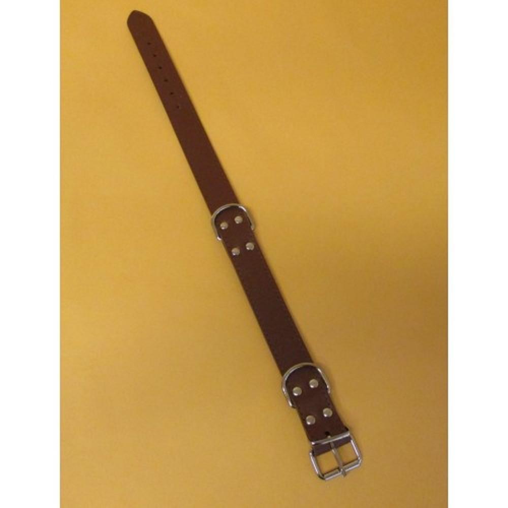 Obojek kožený - tmavě hnědý 3x55cm