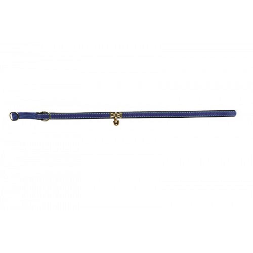 Obojek s rolničkou modrý s filcem 1,2x36cm