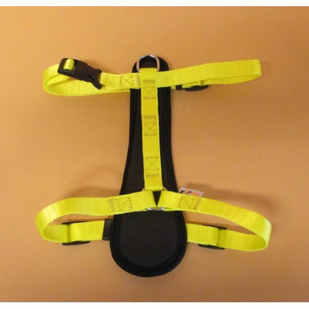Postroj popruh - neon žlutý vel.2
