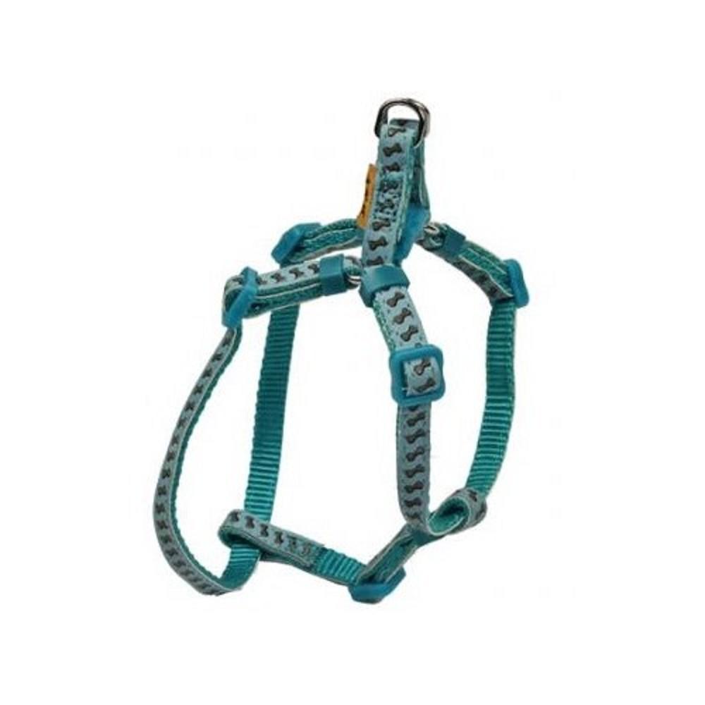 Postroj reflexní s kostičkami - světle modrý vel.1