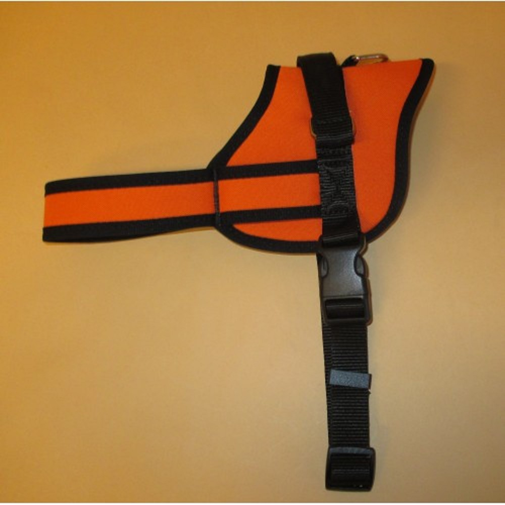 Postroj služební podšitý - oranžový XL