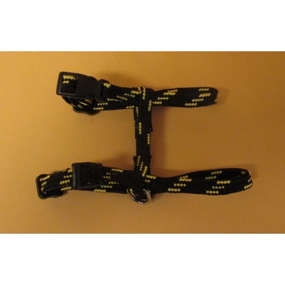 Postroj nylonový - černo-žlutý S/M