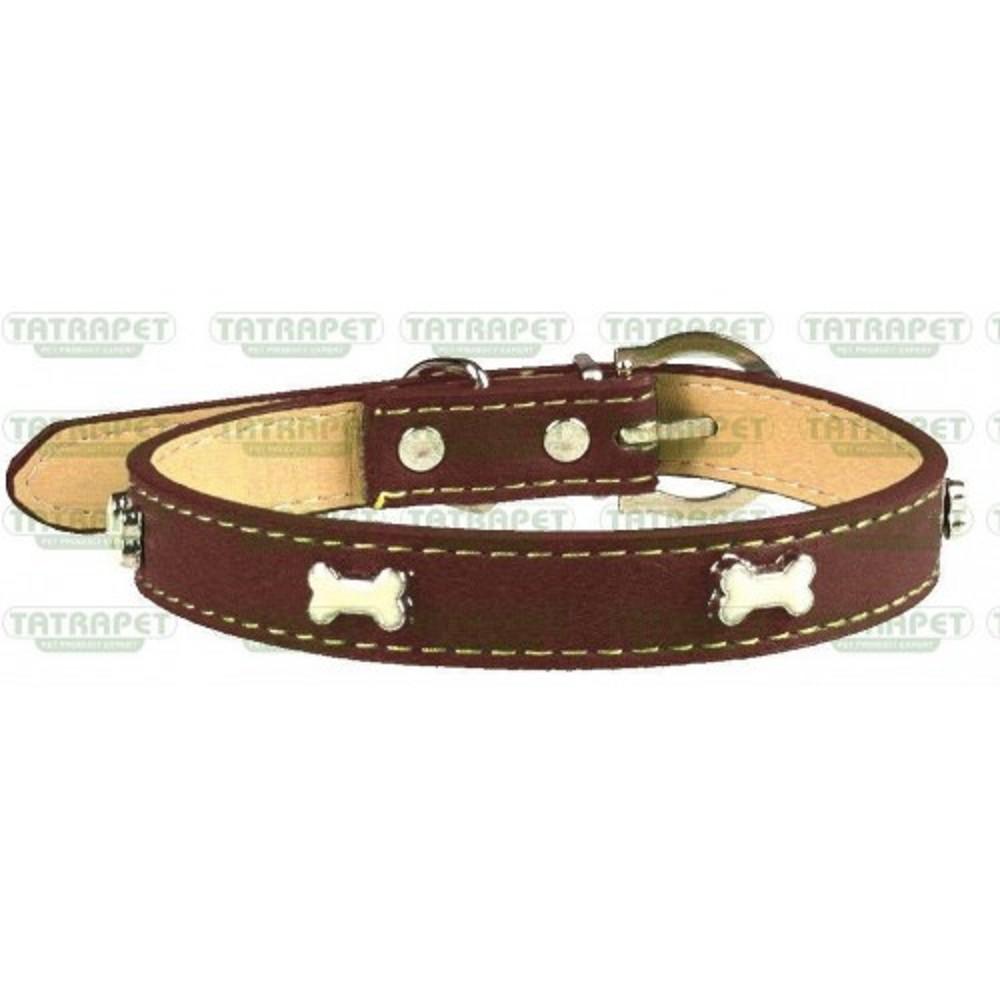 Obojek kožený zdobený kostičkama 1,5x35cm