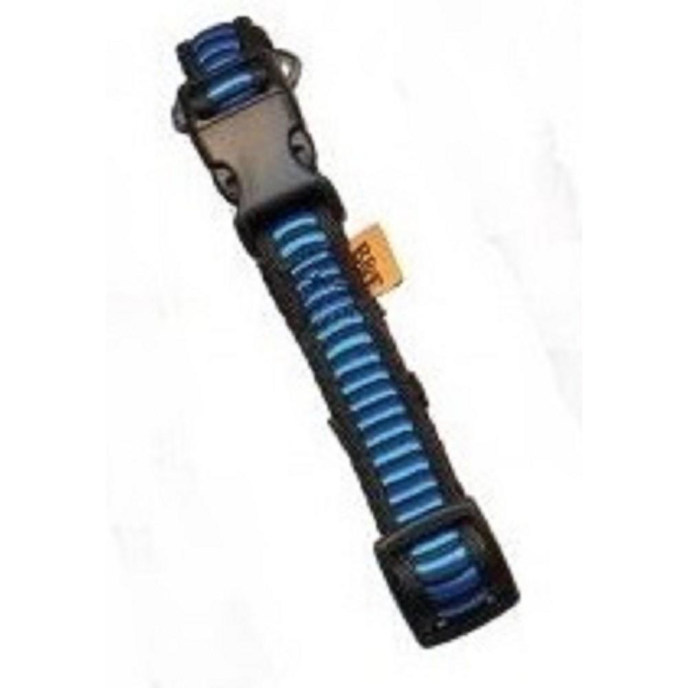 Obojek žebřík - modrý 2,5x40-66cm