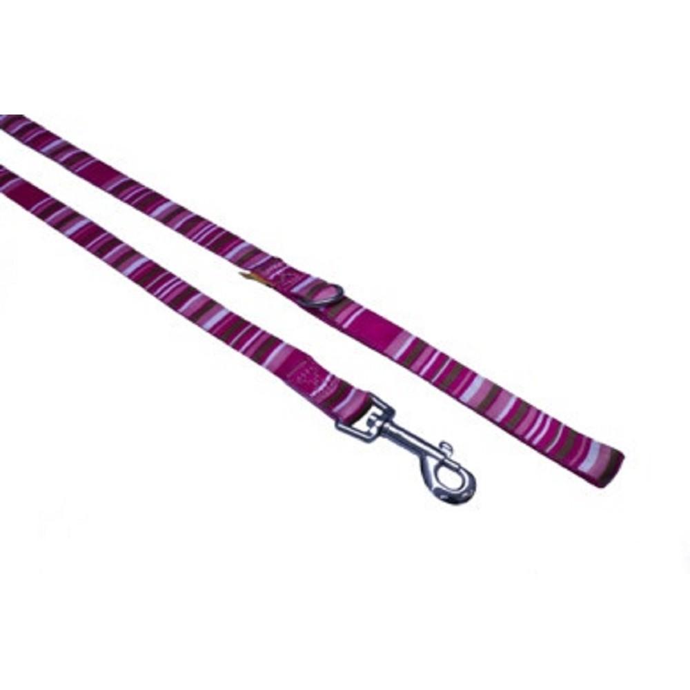 Vodítko s proužky - růžové 1x120cm