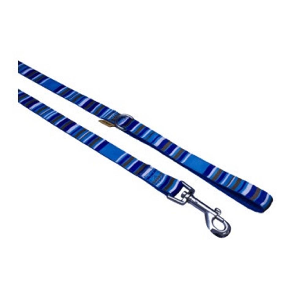 Vodítko s proužky - modré 1,5x150cm