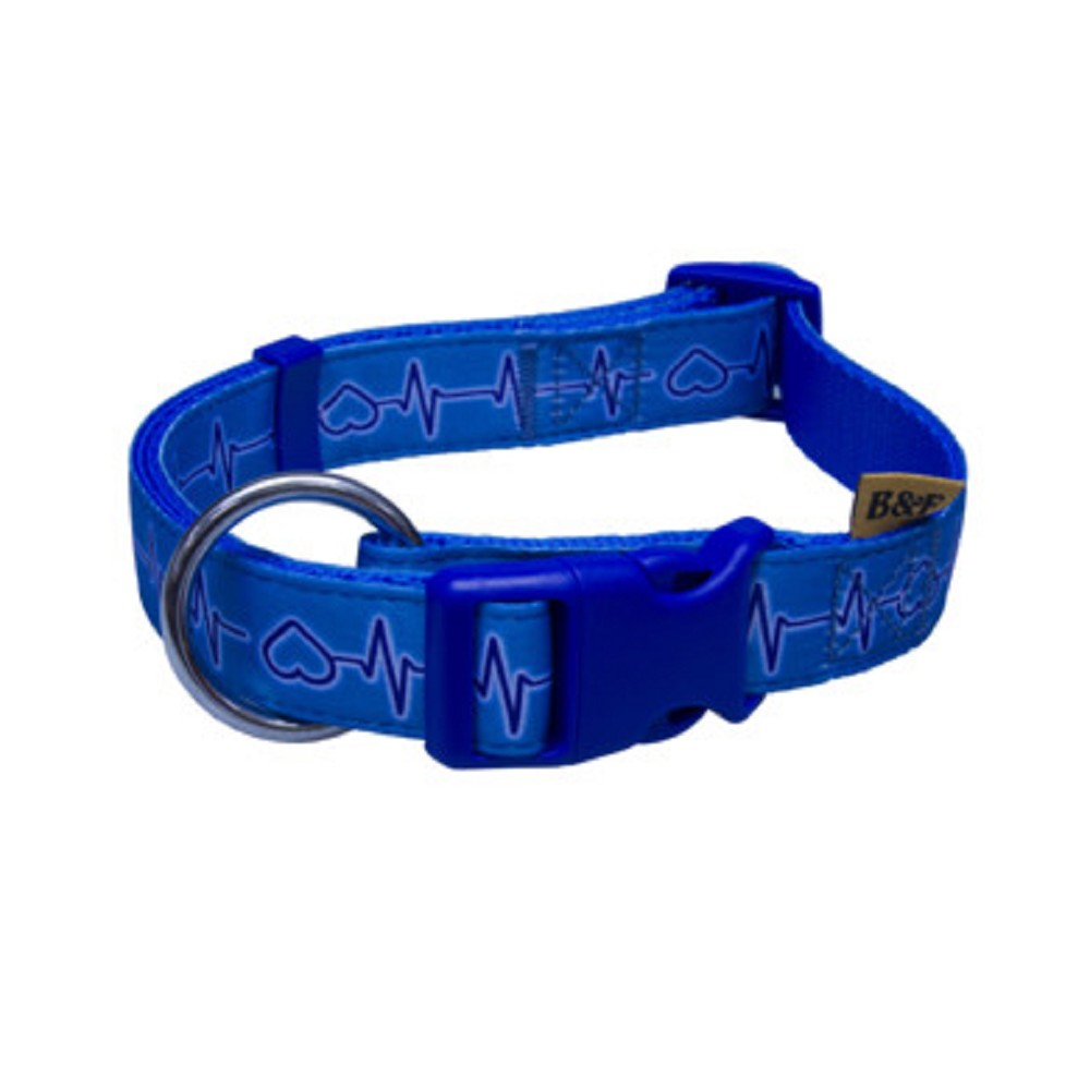 Obojek EKG 1,5x30-50cm - modrý