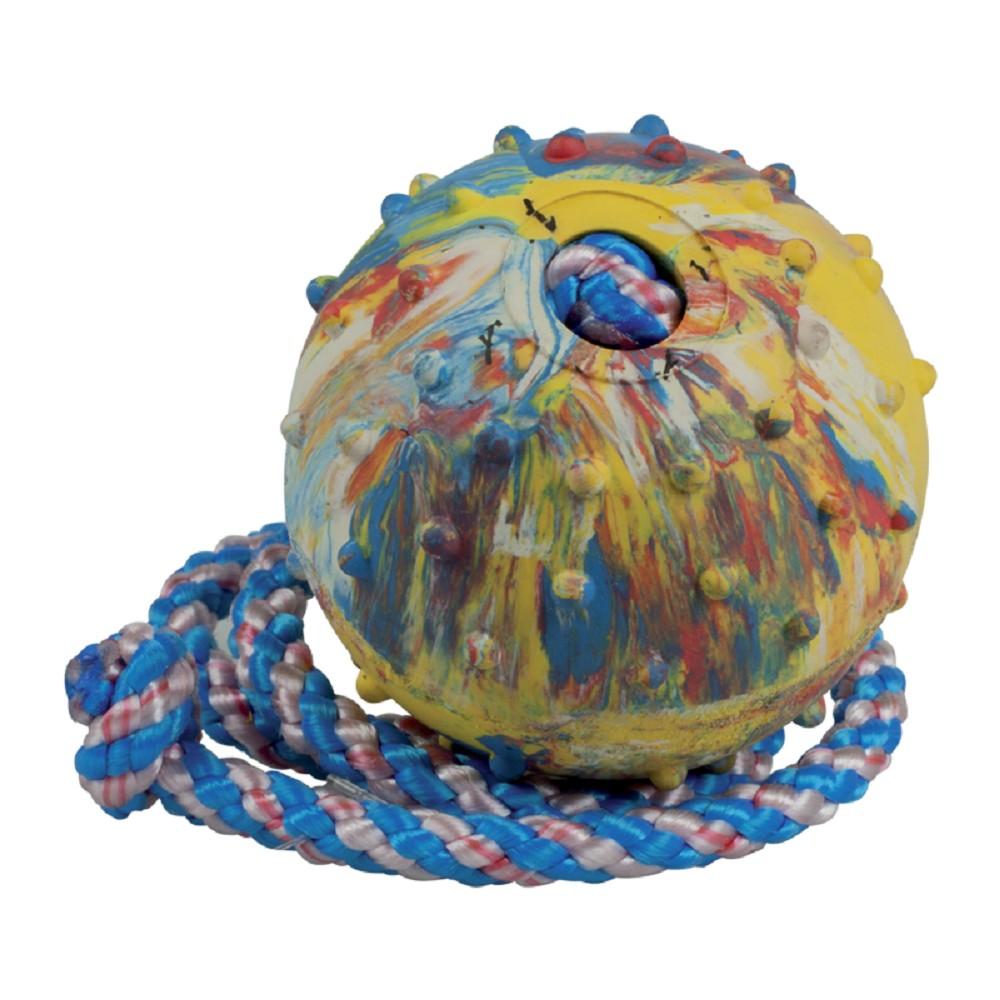 Aport míč s provázkem 6cm