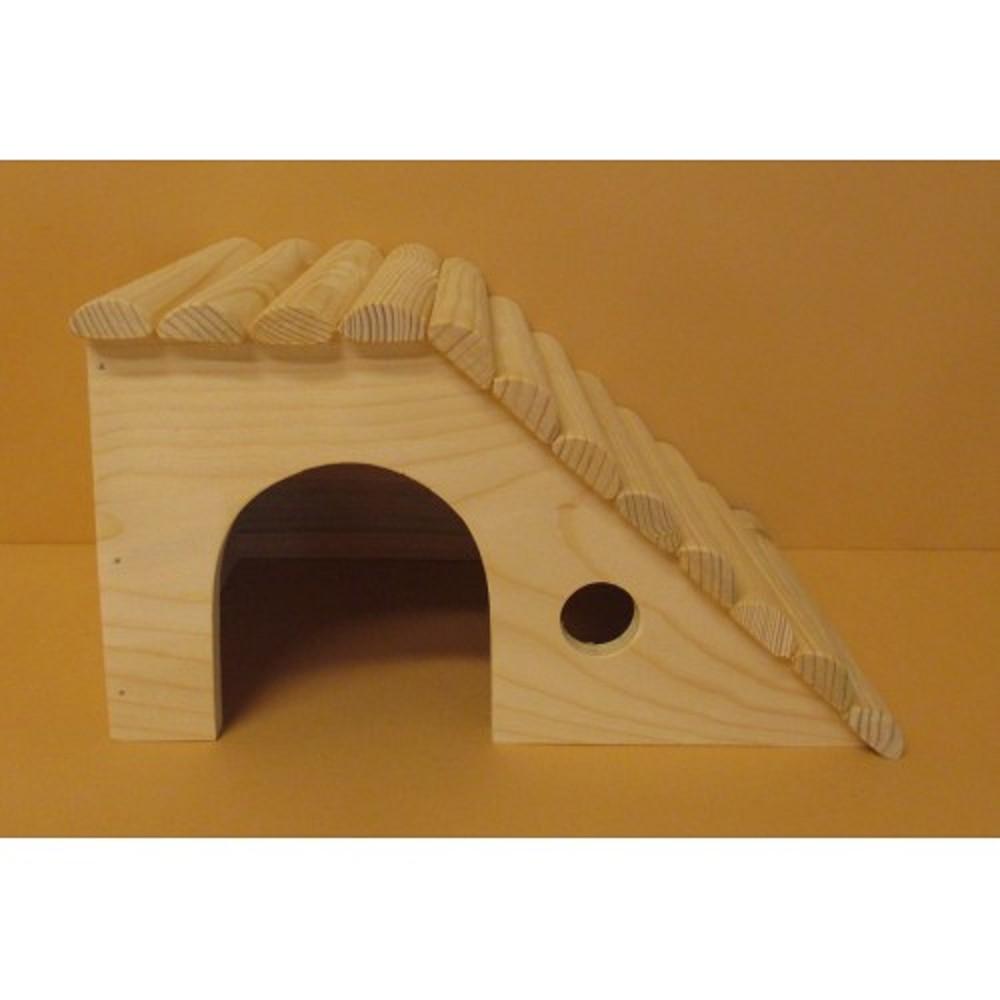 Domek pro velké králíky - dřevěný přírodní