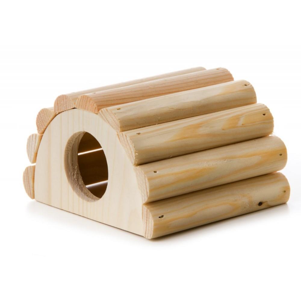 Domeček pro myš - dřevěný přírodní