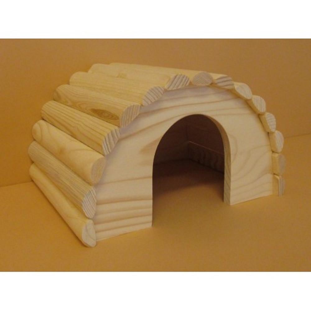Domeček pro křečky - dřevěný přírodní