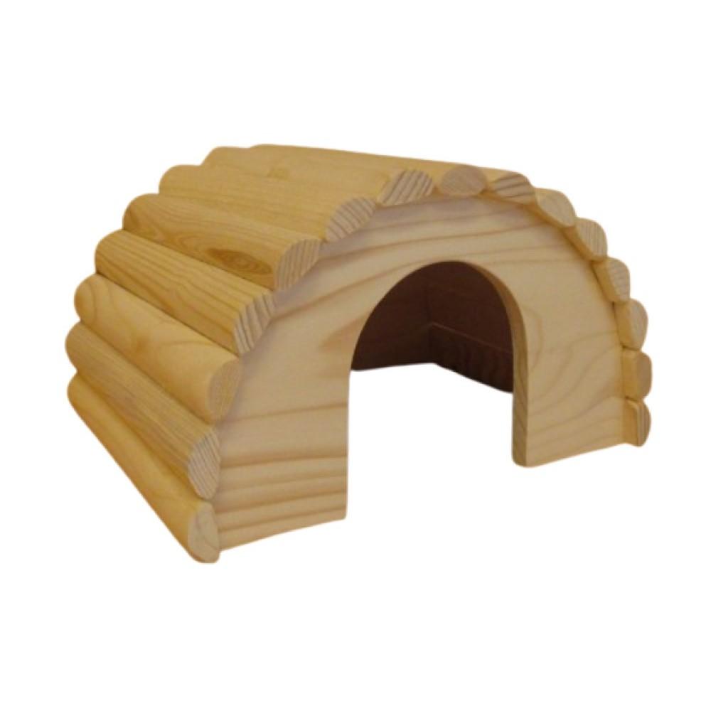 Domek pro králíky - dřevěný přírodní