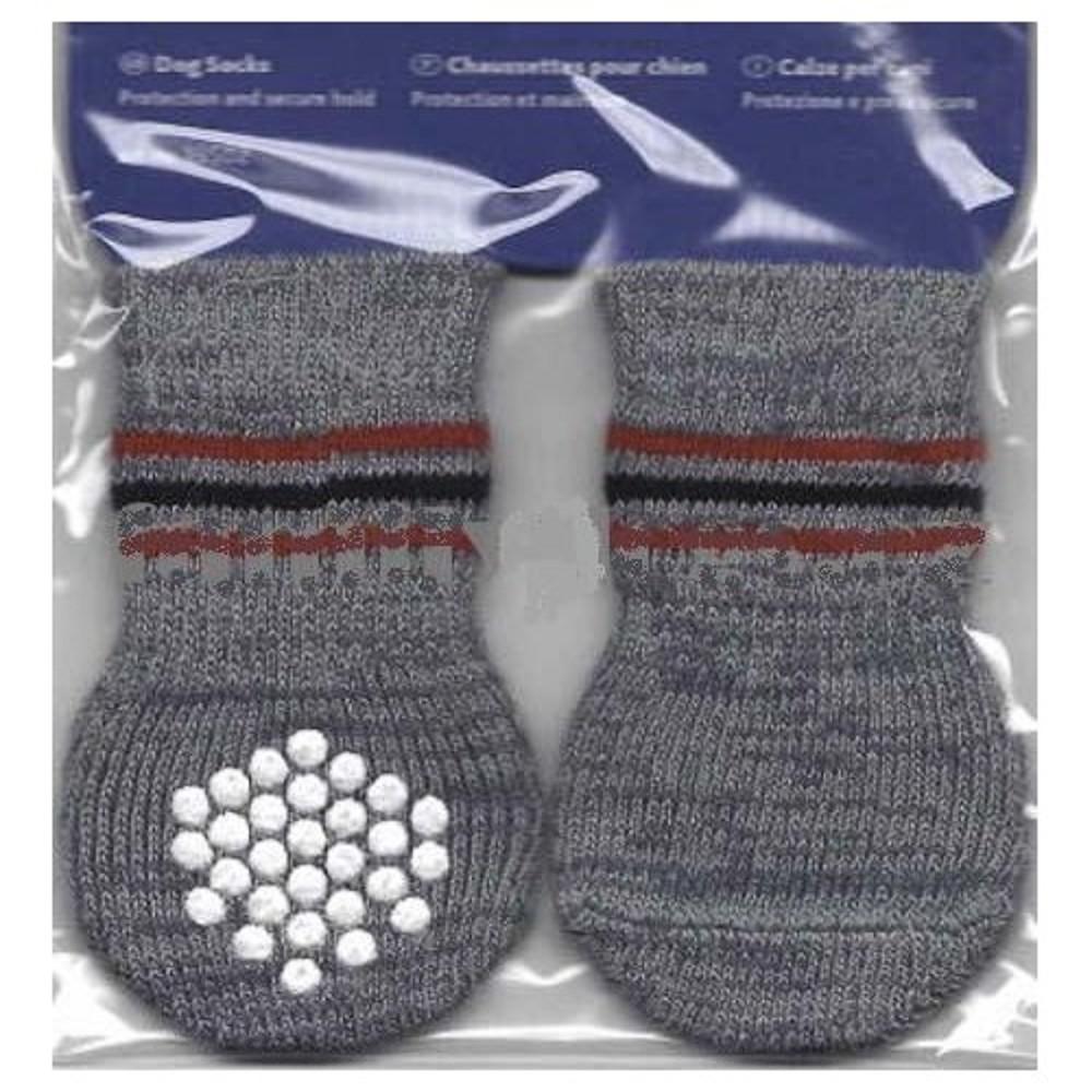 Ponožky protiskluzové šedé M-L