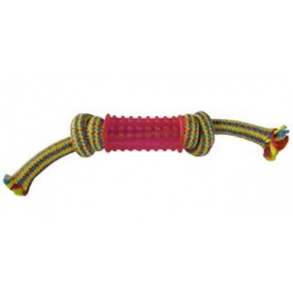 Aport gumový váleček 6,5cm s bavlněnými uzly