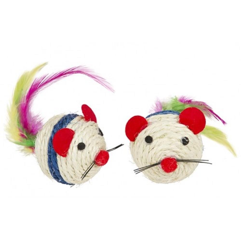 Myš sisalová 5,5cm - 2ks