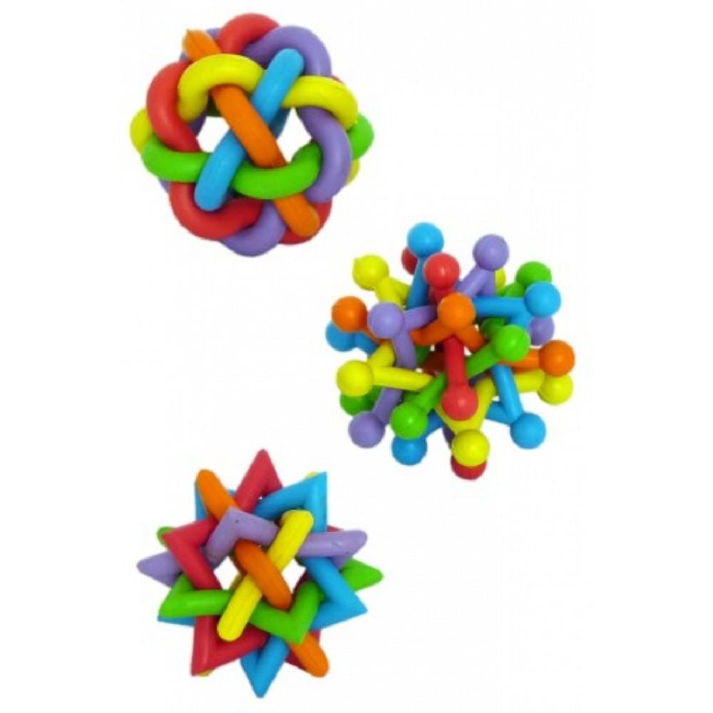 Gumové hračky proplétané