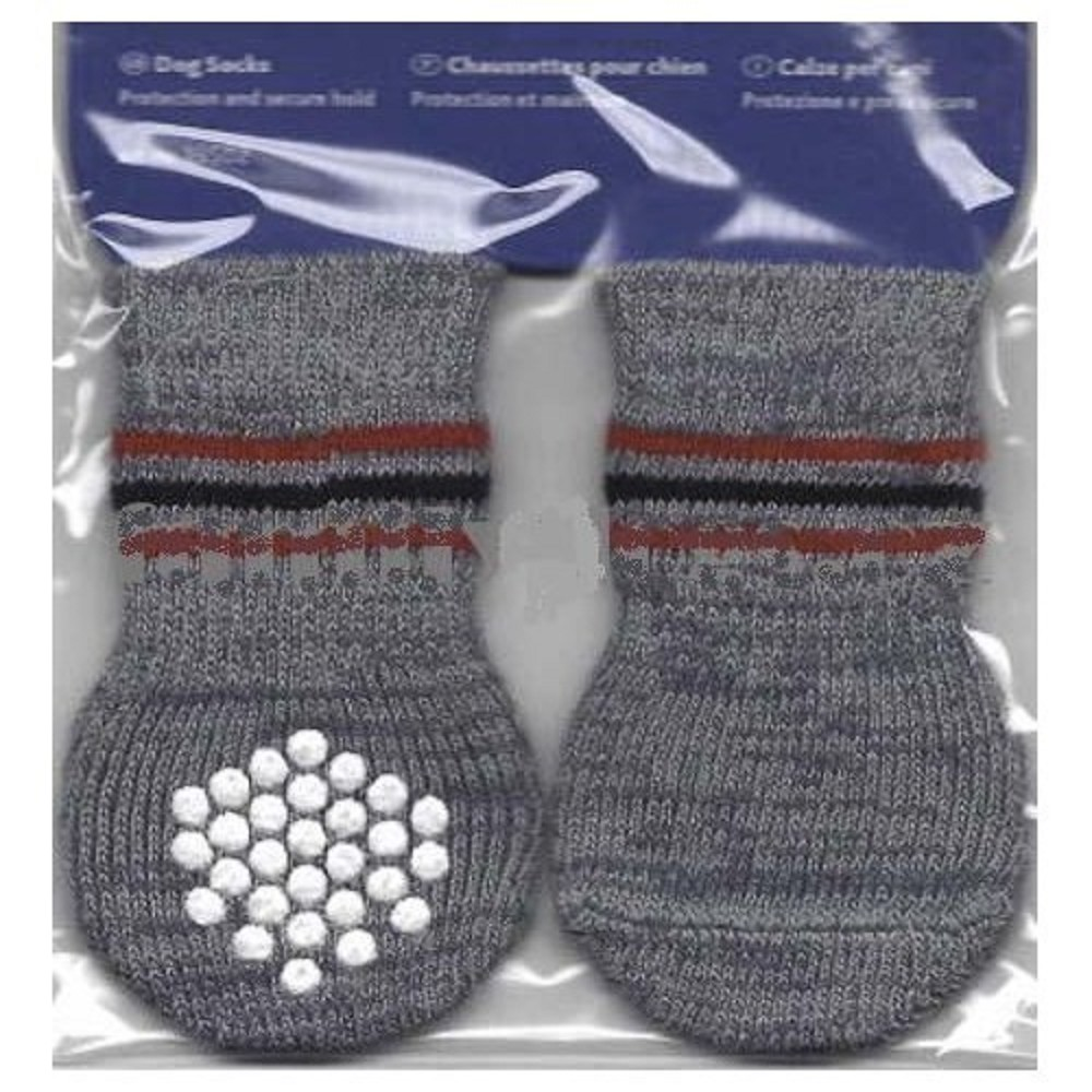 Ponožky protiskluzové šedé L-XL