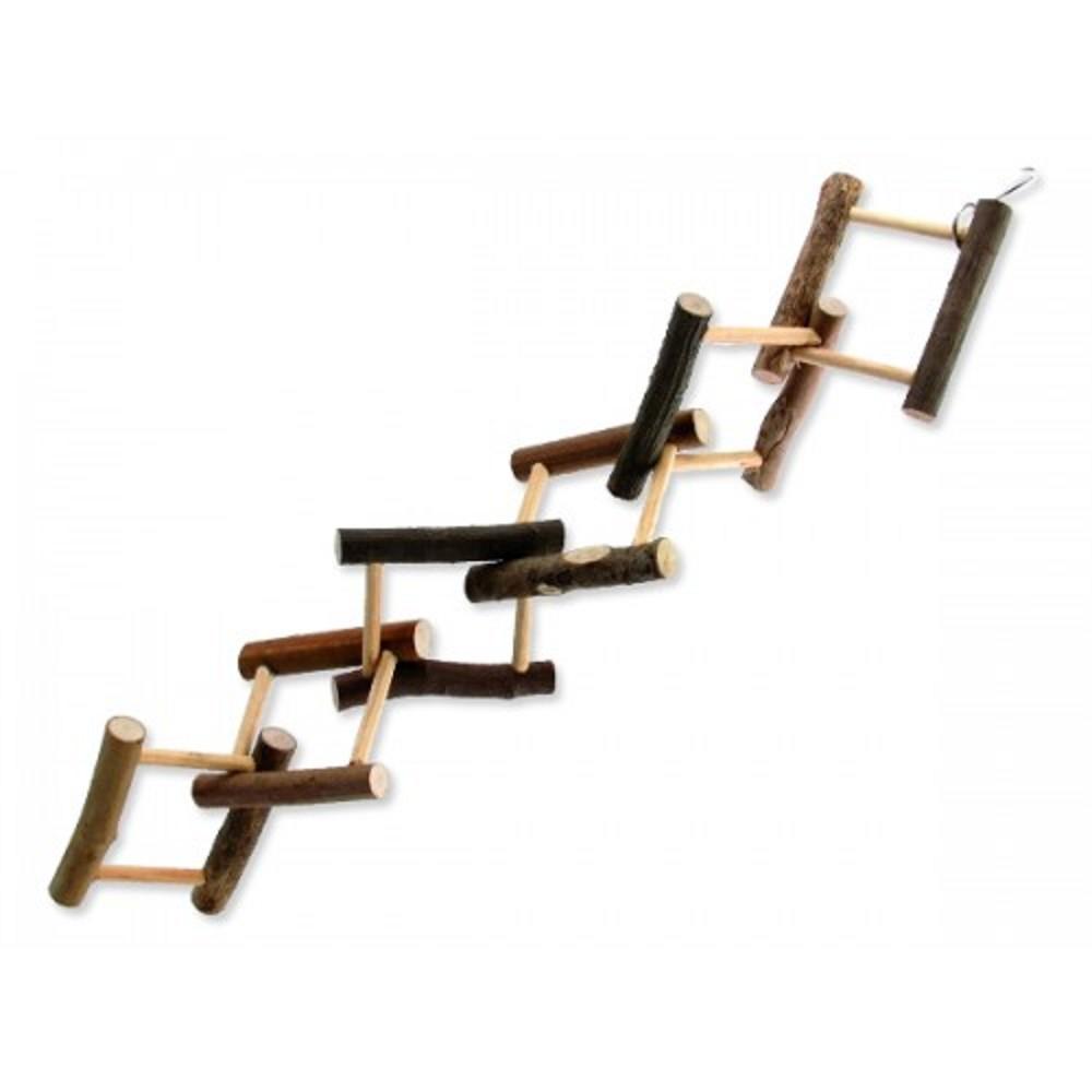 Ptačí hračka - dřevěná proplétaná 14x55cm