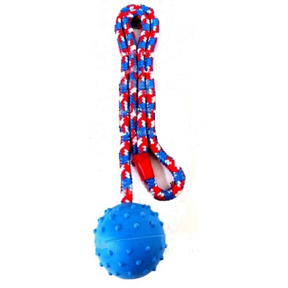 Aport míč 7cm s provázkem 60cm