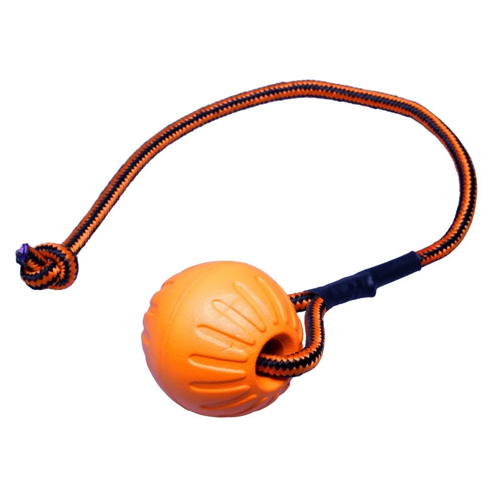 Míček FOAM se šňůrkou -  oranžový 9x53cm