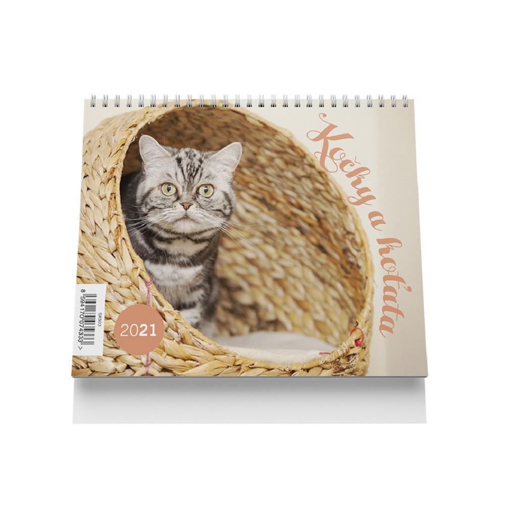 Kalendář stolní malý - Kočky a koťata 2021