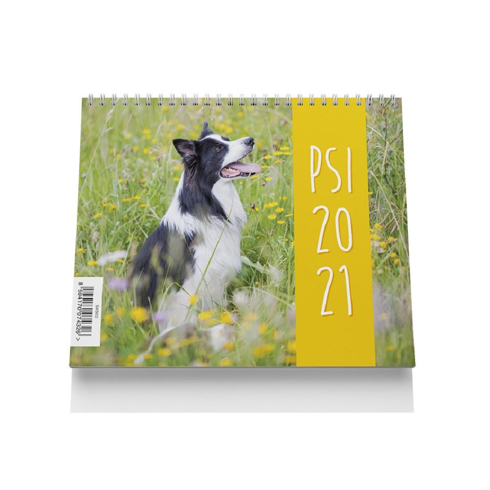 Kalendář stolní malý - Psi 2021
