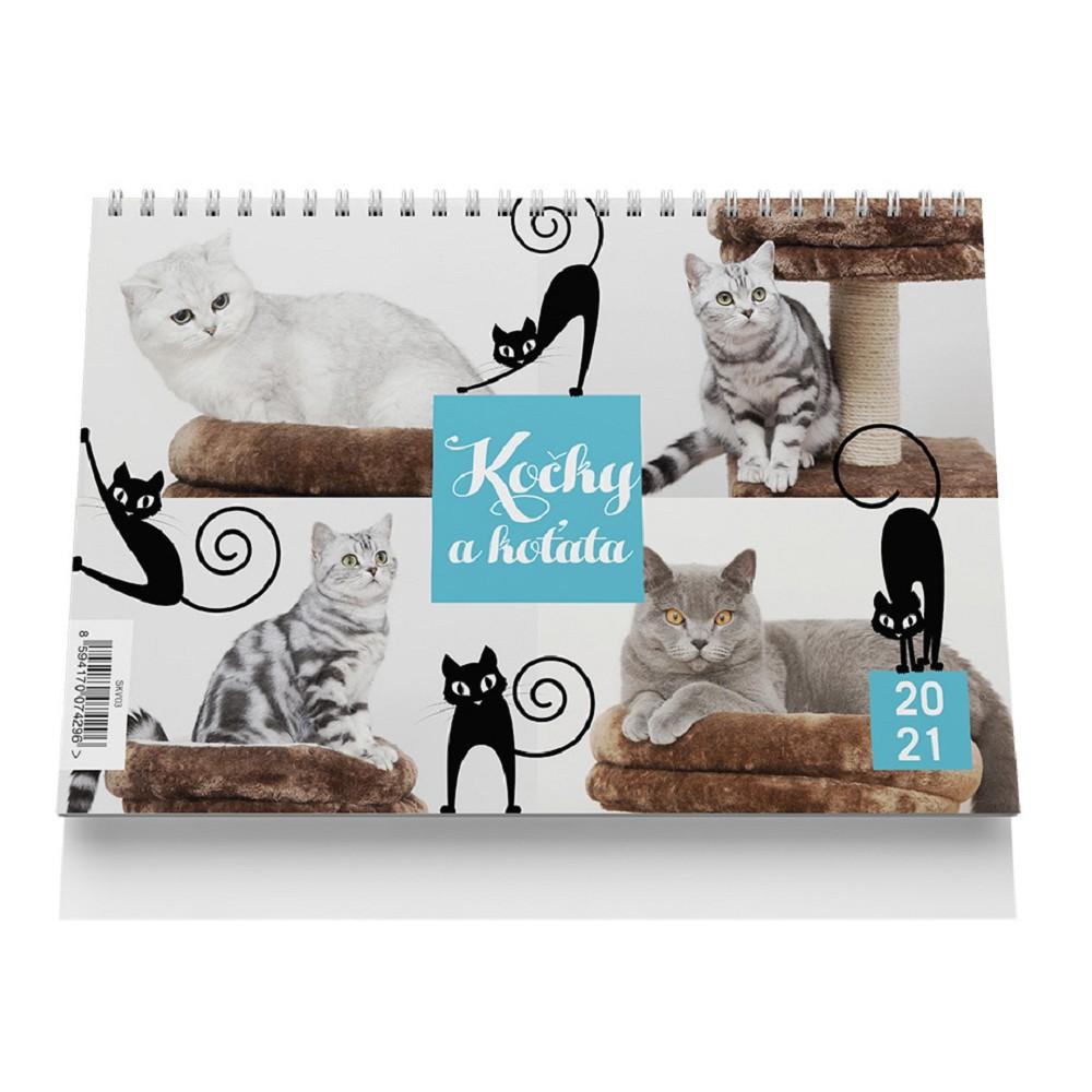 Kalendář stolní velký - Kočky a koťata 2021