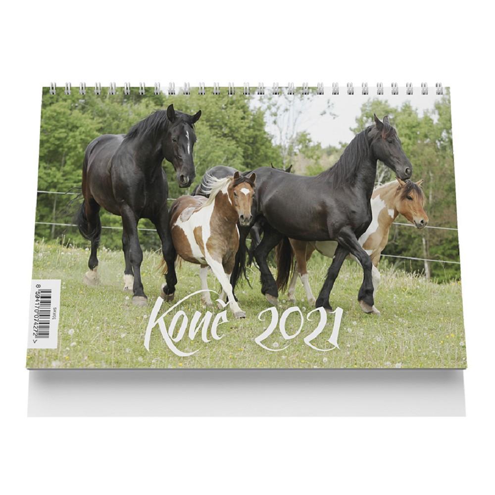 Kalendář stolní velký 2021 Koně