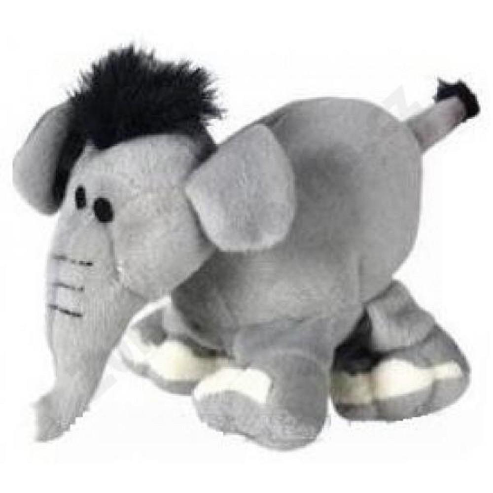 Slon šedý pískací 16cm