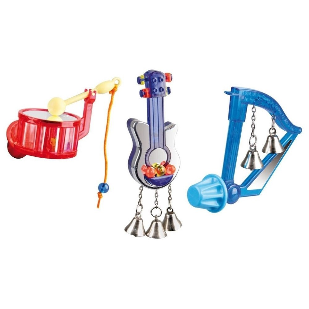 Ptačí hračka - hudební nástroj 8cm