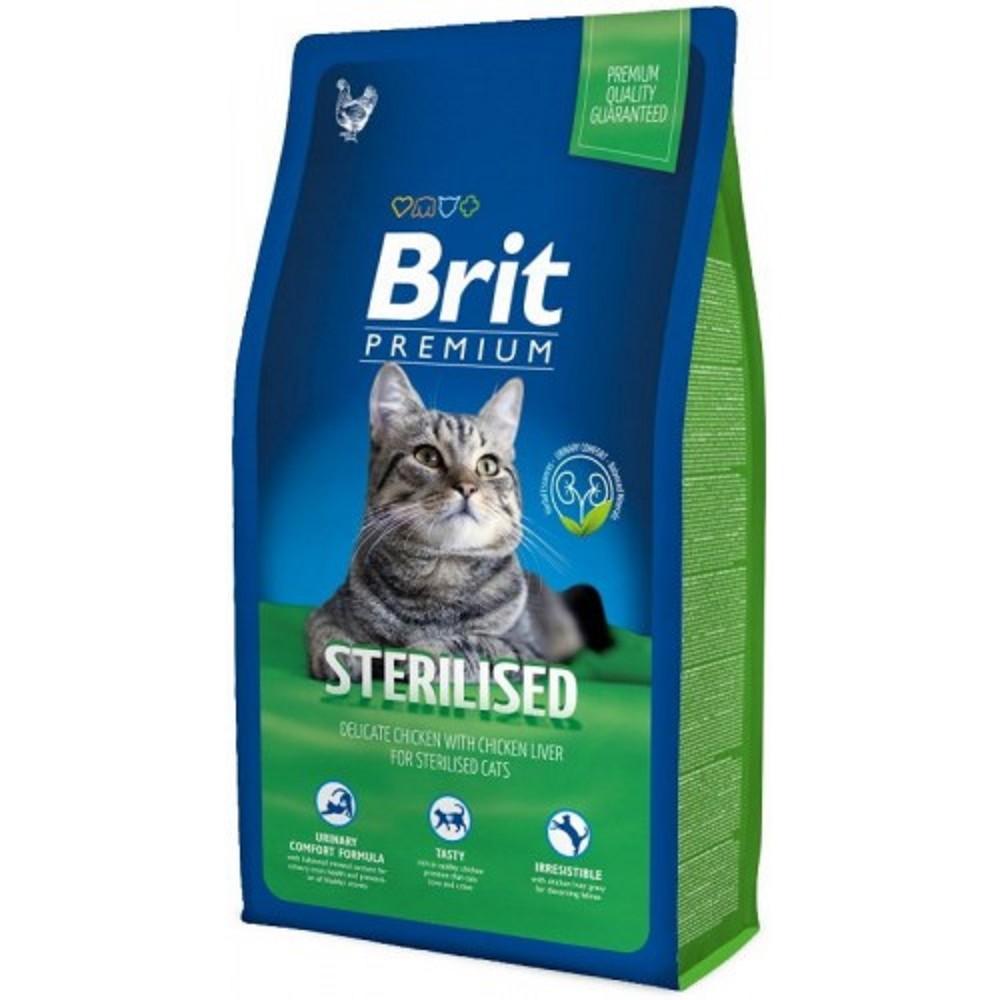 Brit premium sterilized kuřecí 8kg